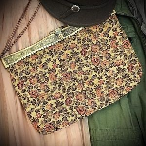 Handbags - 1930's Antique Floral Tapestry Purse